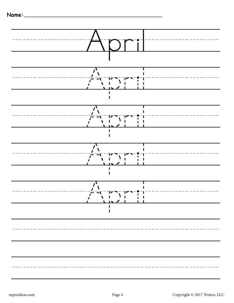 12 Months Of The Year Handwriting Worksheets | Handwriting