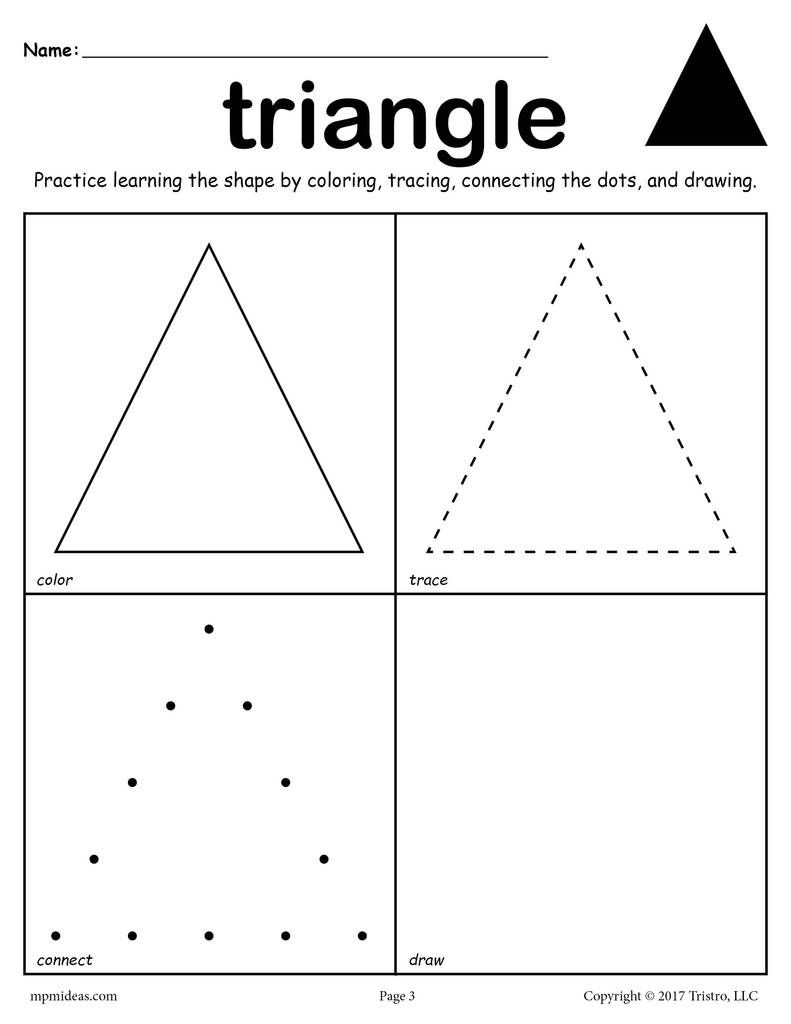 12 Shapes Worksheets: Color, Trace, Connect, & Draw! | Shape
