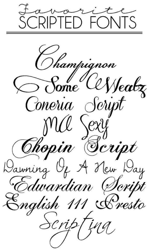 14 Calligraphy Script Font Alphabet Images   Tattoo Fonts