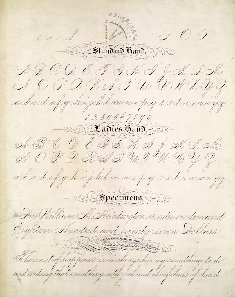 19Th-20Th Century Penmanship In The Usa - Penna Volans