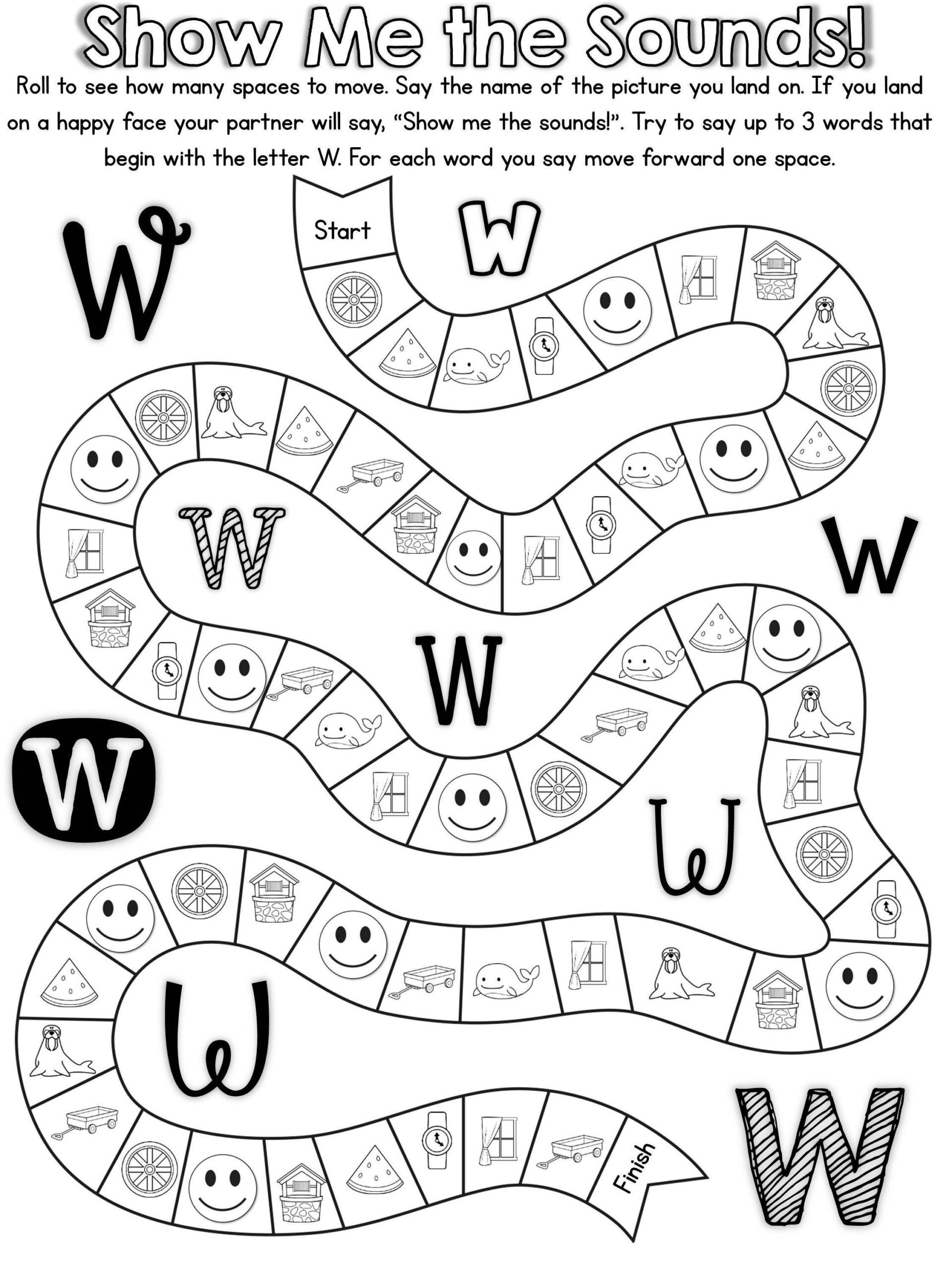 20 Ready To Print, No Prep Games To Practice The Letter W in Letter W Worksheets Twisty Noodle