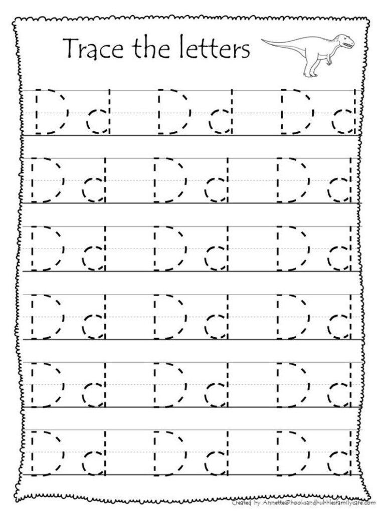 26 Printable Trace The Alphabet Worksheets. Preschool Kdg