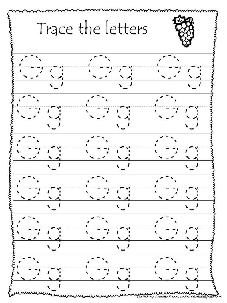 26 Printable Trace The Alphabet Worksheets. Preschool-Kdg