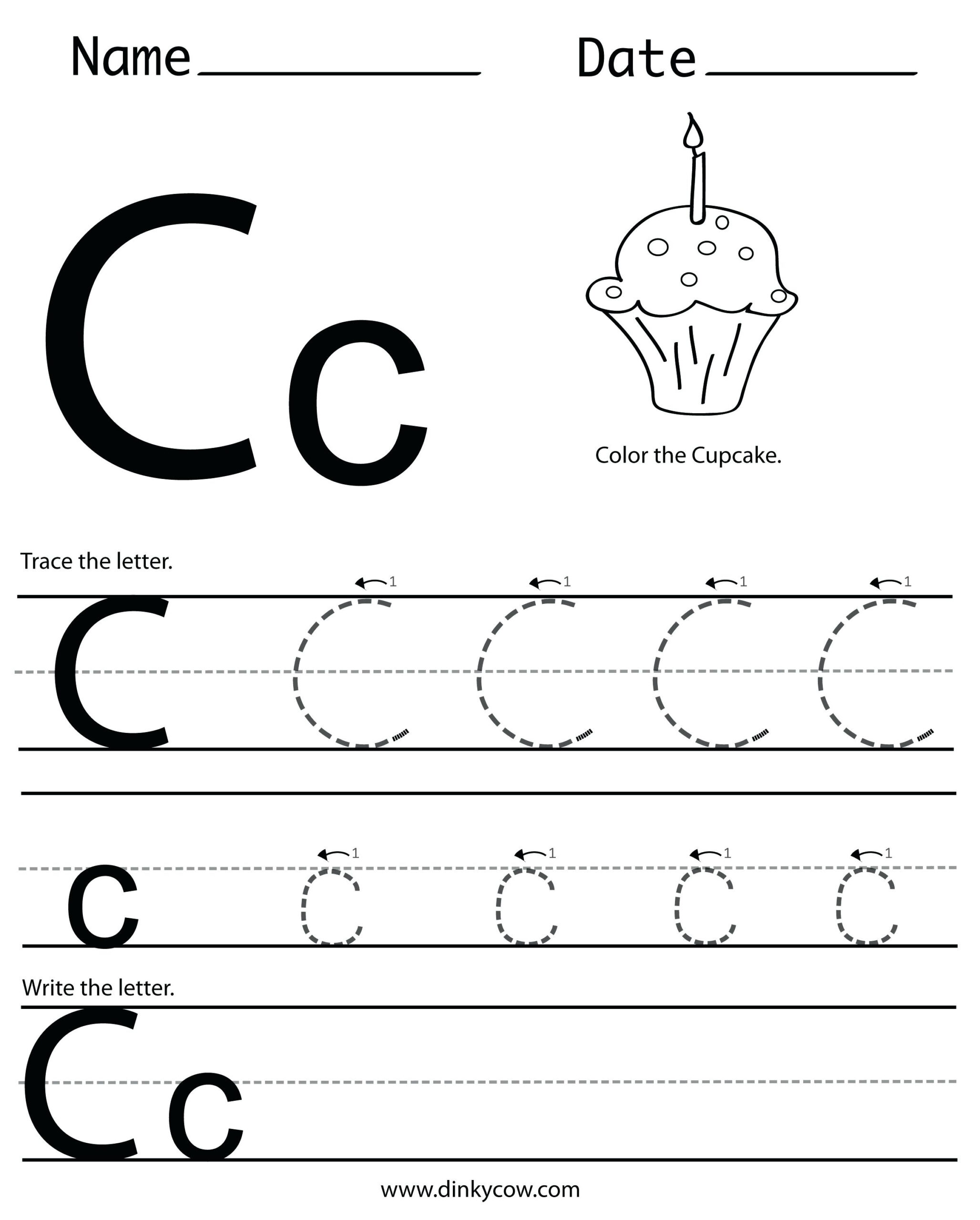 28 Letter C Worksheets For Young Learners | Kittybabylove with regard to Letter C Worksheets For 3 Year Olds