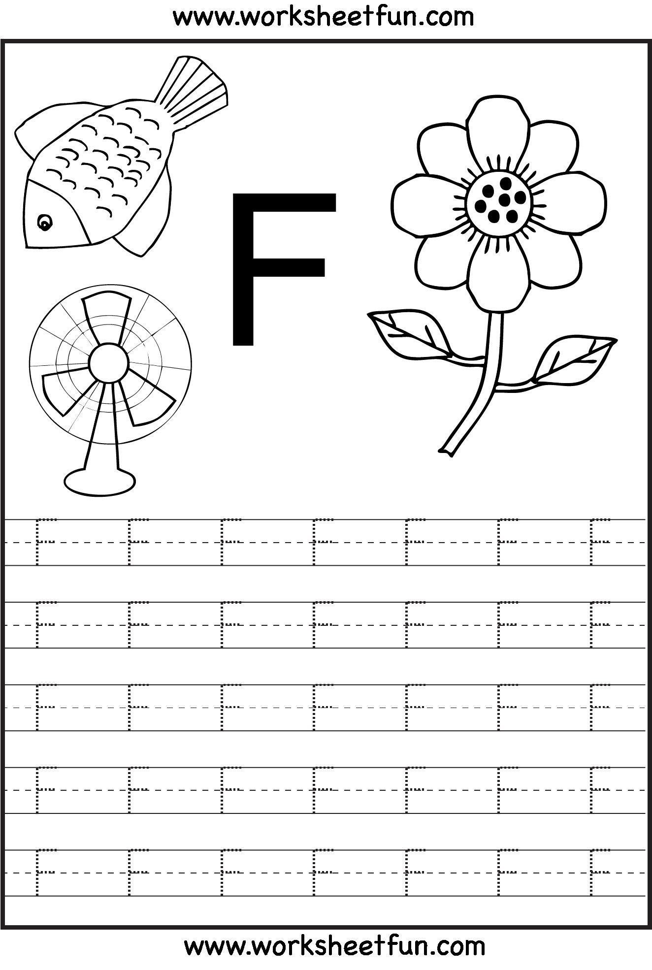 3 Letter F Preschool Printable Worksheets Capital Letter D inside Letter F Worksheets Free Printable