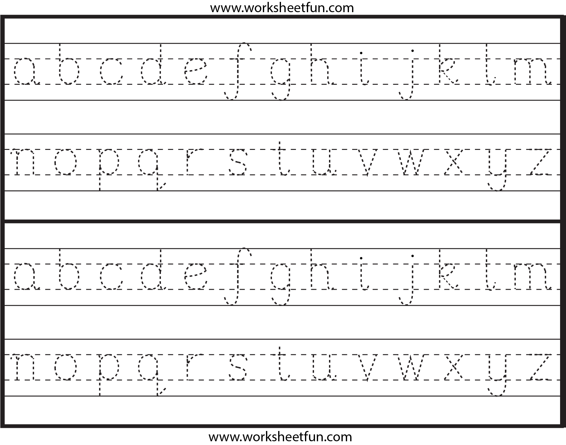 4 Best Images Of Printable Lowercase Alphabet Letter Tracing with regard to Alphabet Tracing Lowercase