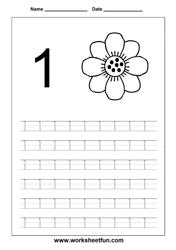 4 Worksheet Trace Number 1 20 Worksheet Printable