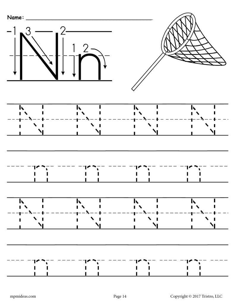 42 Letter N Tracing Worksheets Preschool In 2020 | Tracing intended for Letter N Tracing Page