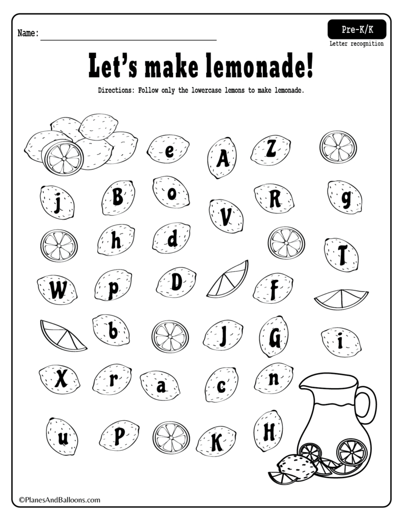 49 Marvelous Letter Recognition Activities Printables with regard to Alphabet Recognition Worksheets For Preschool