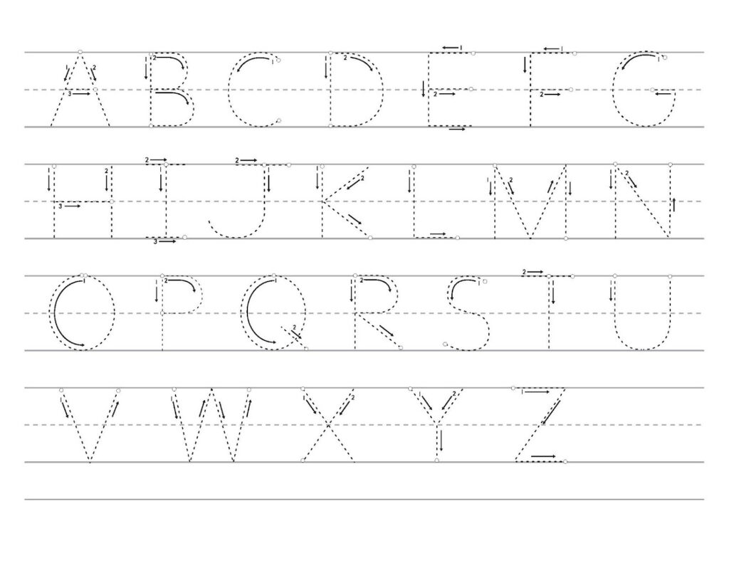 49 Outstanding Alphabet Trace Sheets Printables