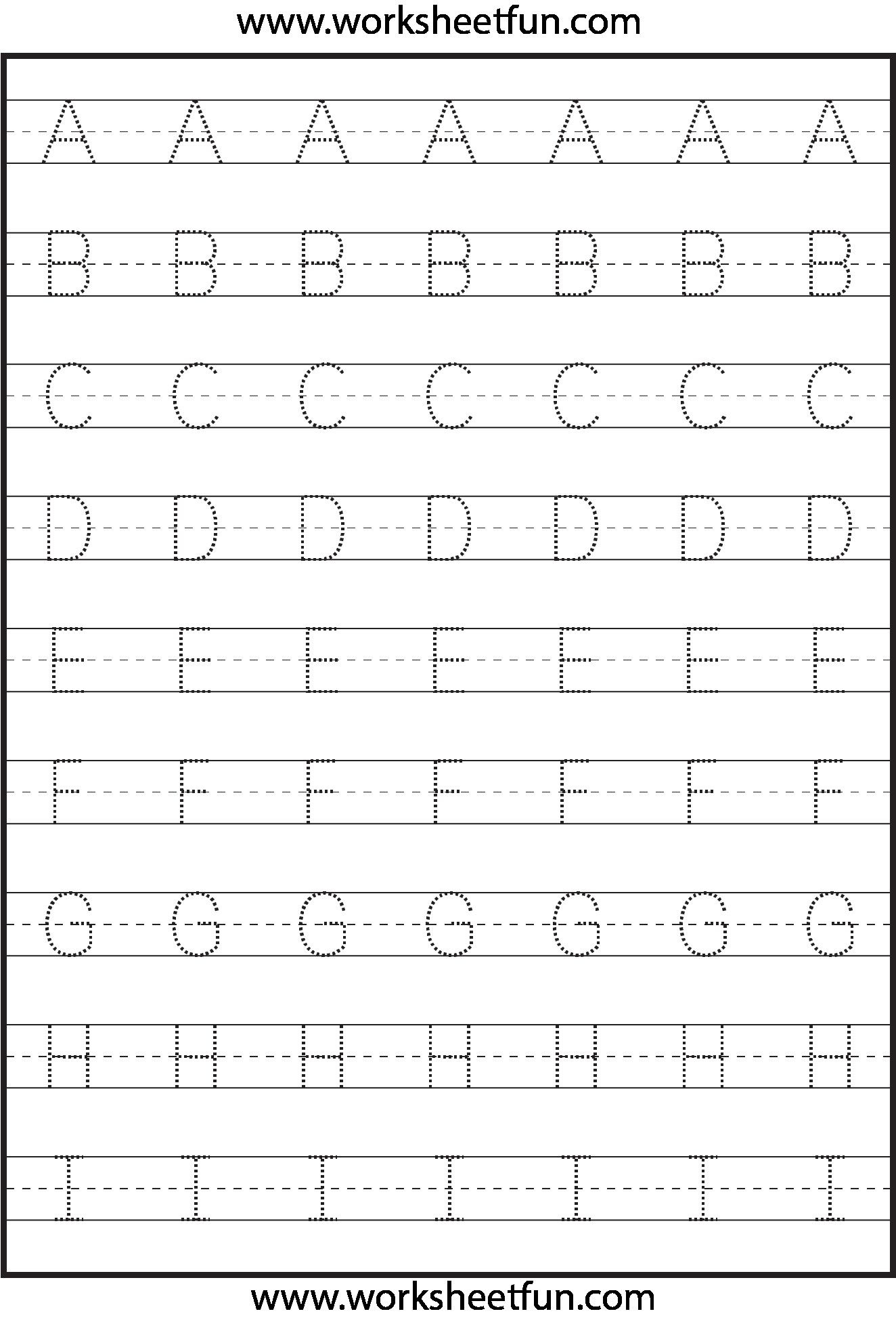 5 Alphabet Letter Worksheets For Preschool In 2020 with regard to Letter 5 Tracing