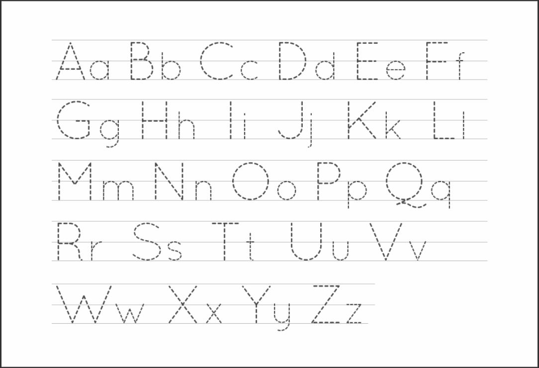 5 Best Free Printable Alphabet Tracing Letters - Printablee