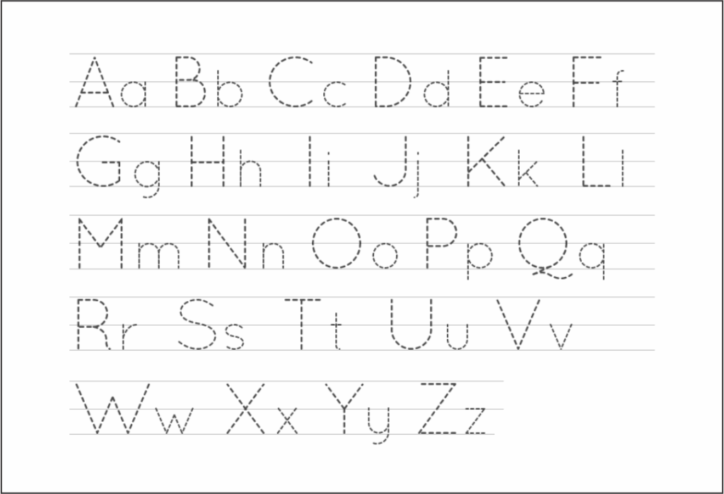 5 Best Free Printable Alphabet Tracing Letters   Printablee Regarding Alphabet Tracing Images