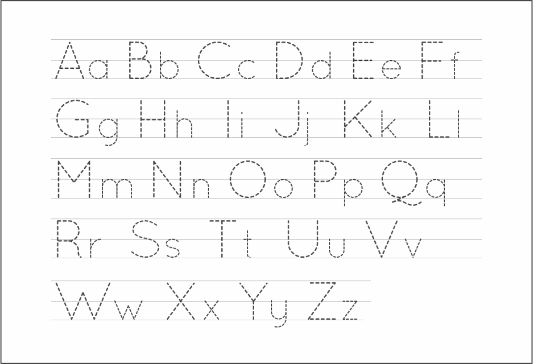 5 Best Free Printable Alphabet Tracing Letters - Printablee regarding Alphabet Tracing Images