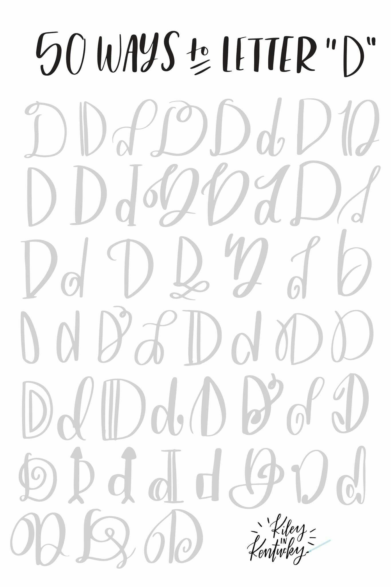 50 Ways To Letter D | Lettering, Cursive Words, Lettering