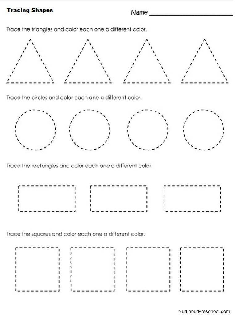 56 Marvelous Preschool Worksheets Shapes Picture