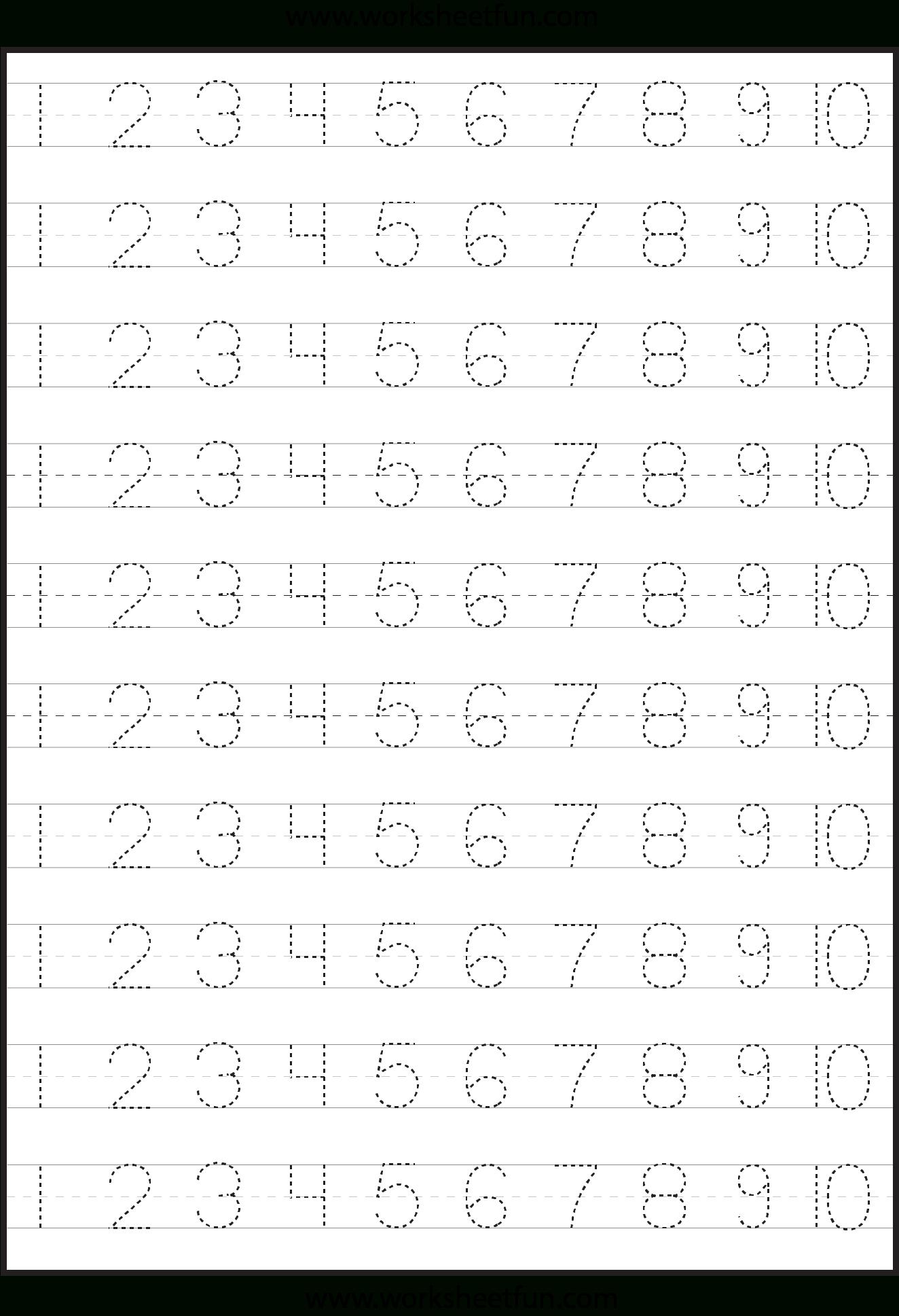 6 Best Free Printable Tracing Numbers 1 100 - Printablee