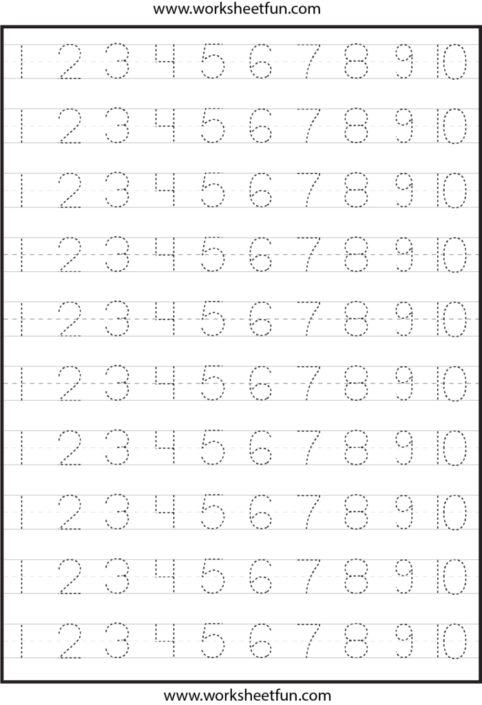 6 Best Free Printable Tracing Numbers 1 100   Printablee
