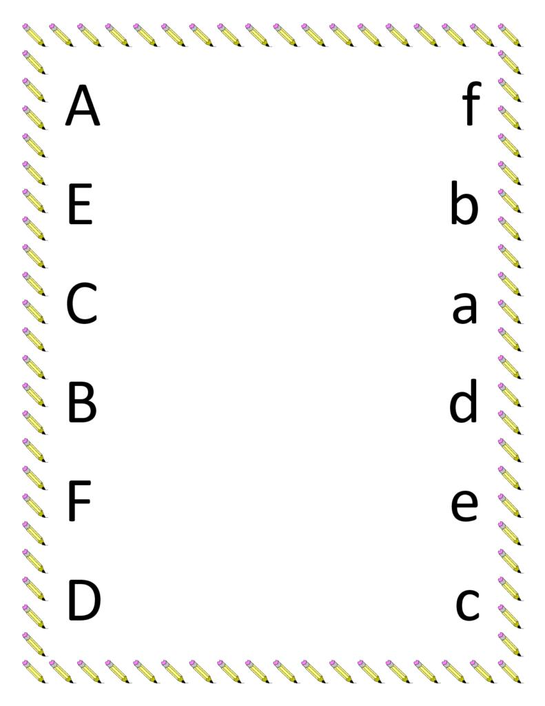 7 Best Images Of Letter Matching Printables   Preschool Regarding Alphabet Matching Worksheets Printable