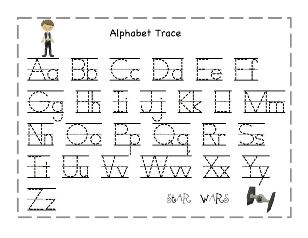7 Best Printable Traceable Letters   Printablee Inside Alphabet Tracing For 3 Year Olds