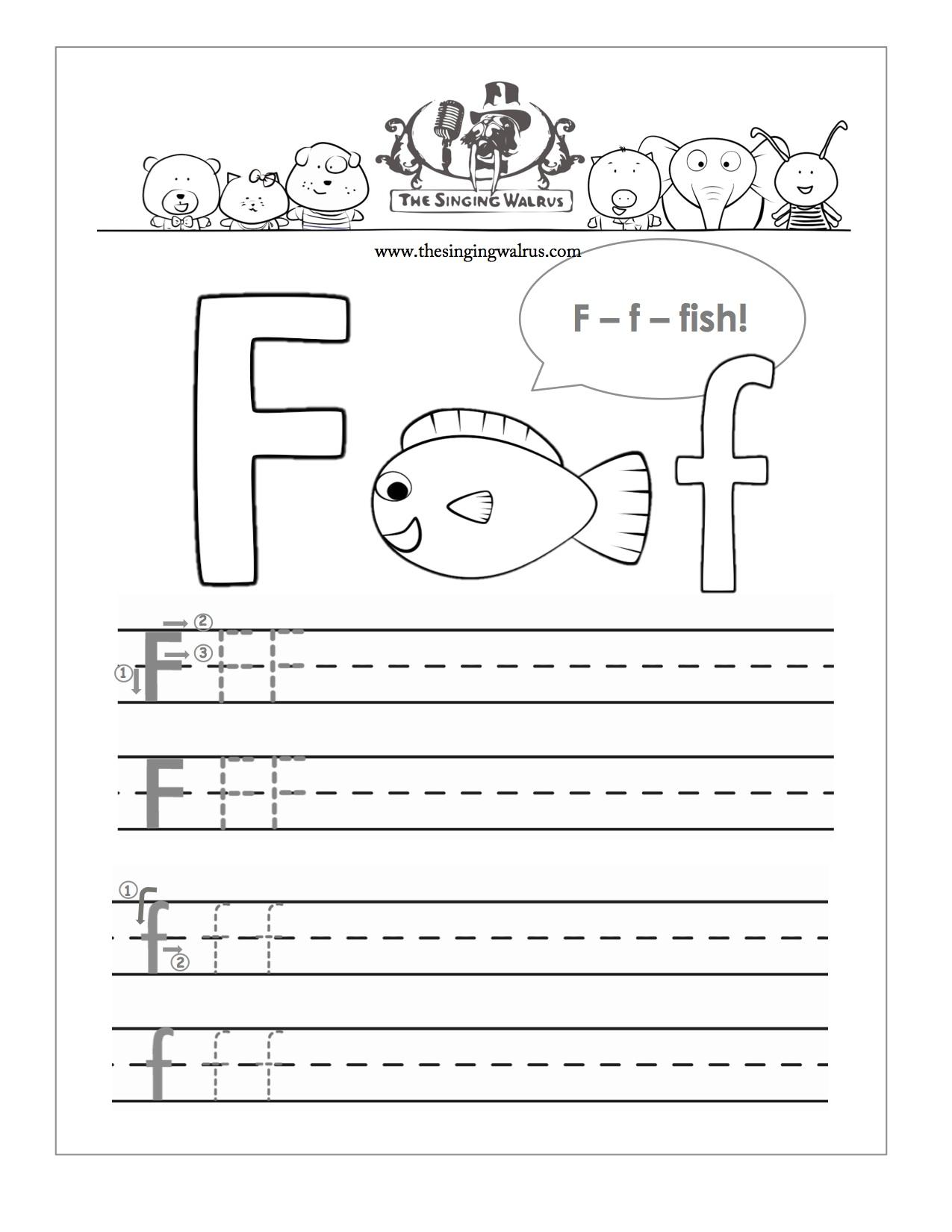 8 Best Free Printable Alphabet Worksheets Letter F in Letter F Tracing Sheet