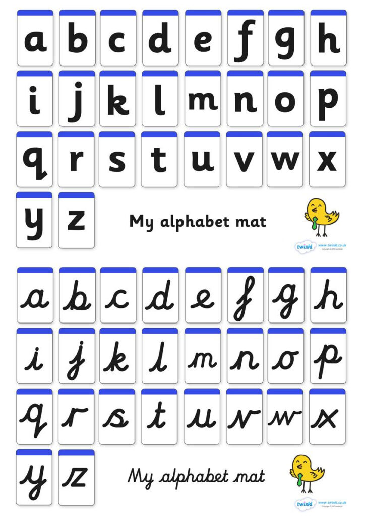 A Z Alphabet Mat (Letters Only) | Phonics, English Phonics With Regard To Alphabet Handwriting Worksheets Twinkl