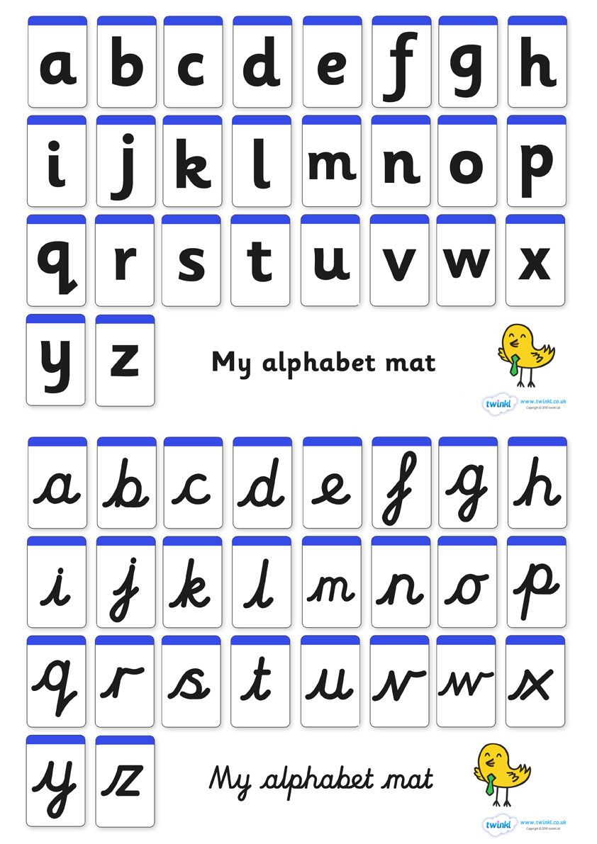 A-Z Alphabet Mat (Letters Only) - Pop Over To Our Site At intended for Alphabet Worksheets Twinkl
