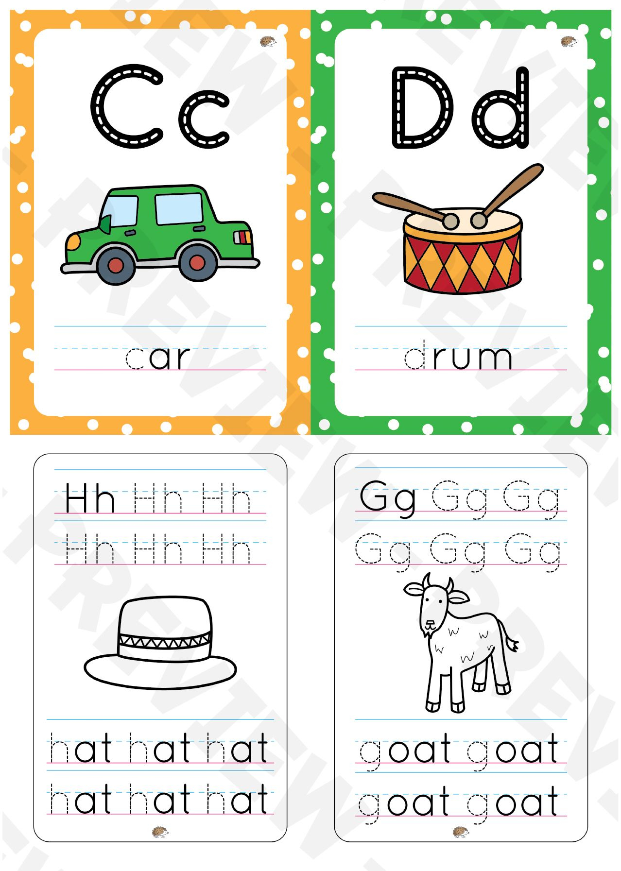 Aa To Zz Alphabet Flashcards With Color Background And pertaining to Name Tracing Observation