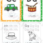 Aa To Zz Alphabet Flashcards With Color Background And With Name Tracing Daniel