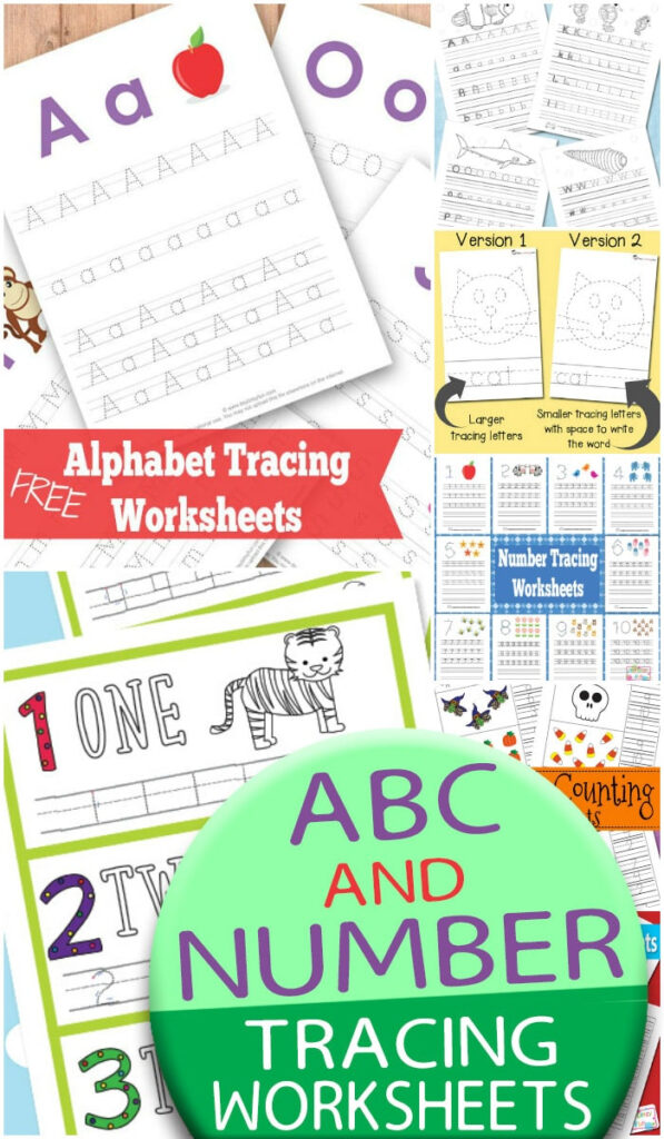 Abc And Number Tracing Worksheets   Itsybitsyfun In Letter S Worksheets Easy Peasy