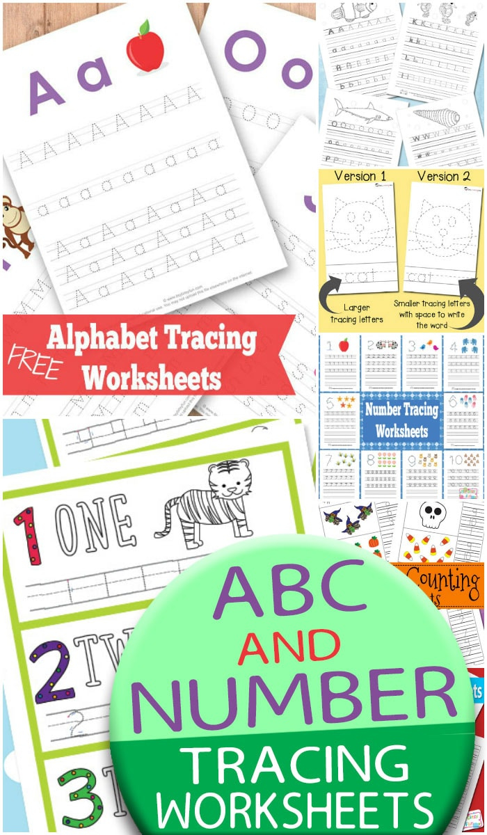 Abc And Number Tracing Worksheets - Itsybitsyfun in Letter S Worksheets Easy Peasy
