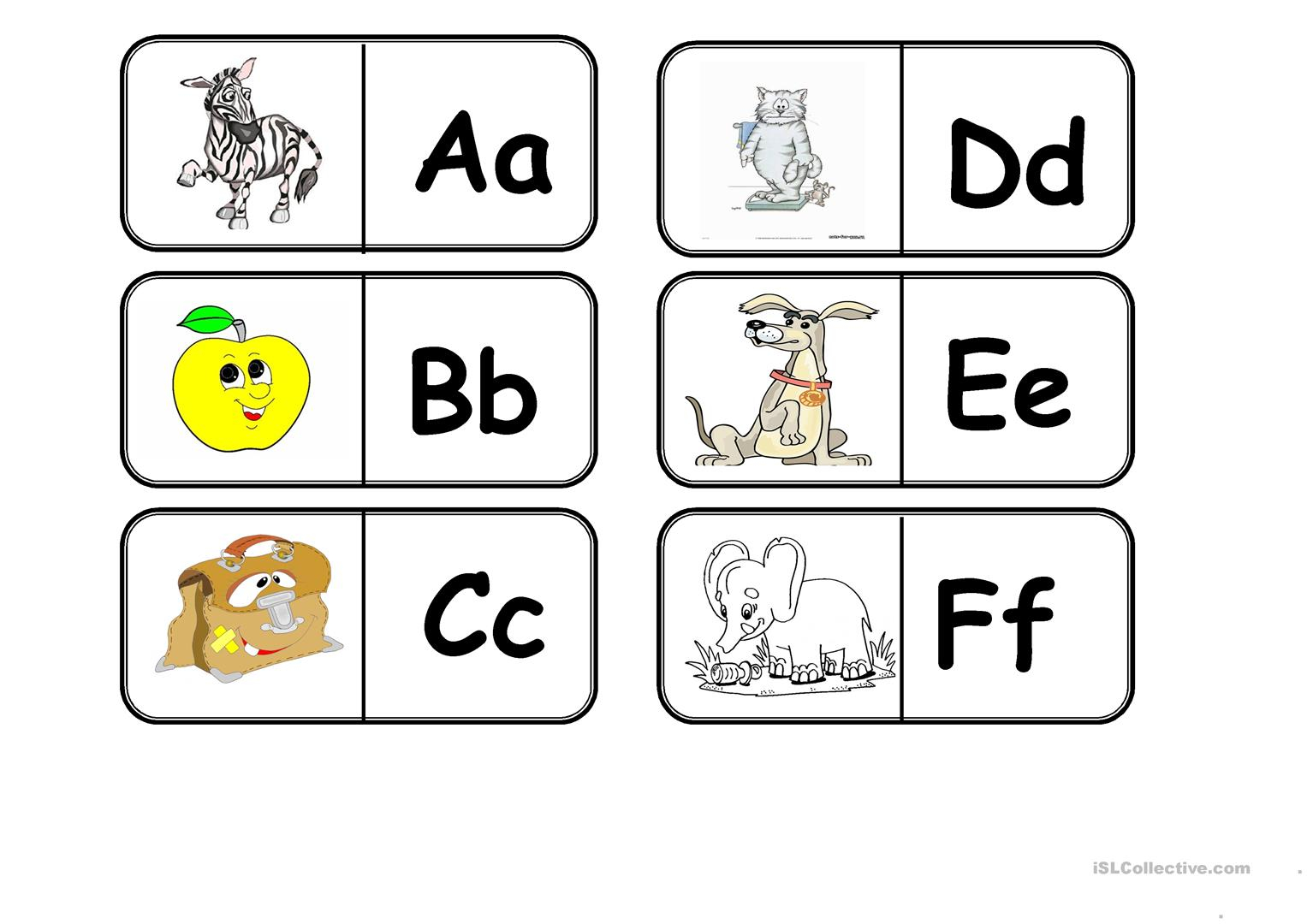 Abc Domino - English Esl Worksheets For Distance Learning throughout Alphabet Domino Worksheets