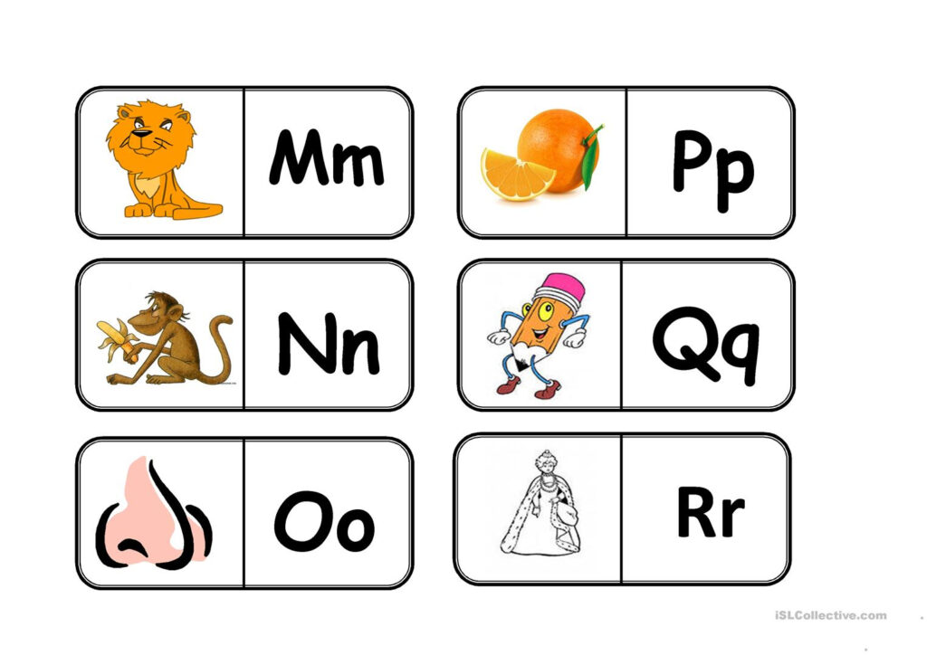 Abc Domino   English Esl Worksheets For Distance Learning With Regard To Alphabet Domino Worksheets