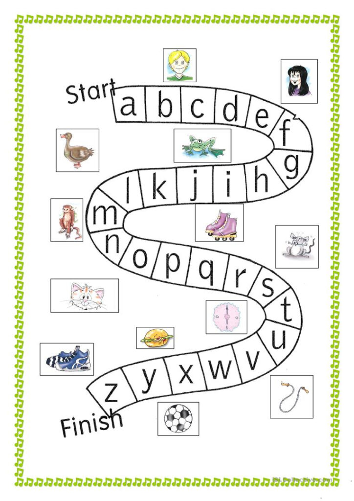 Abc Game   English Esl Worksheets For Distance Learning And Within Alphabet Game Worksheets