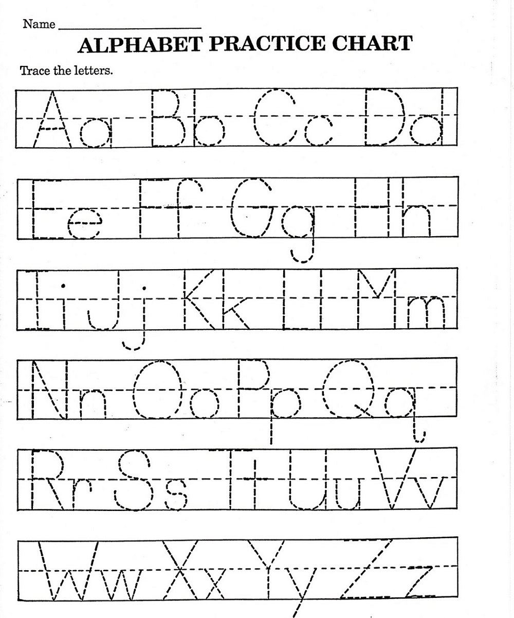Abc Printable Worksheet For Kindergarten | Letter