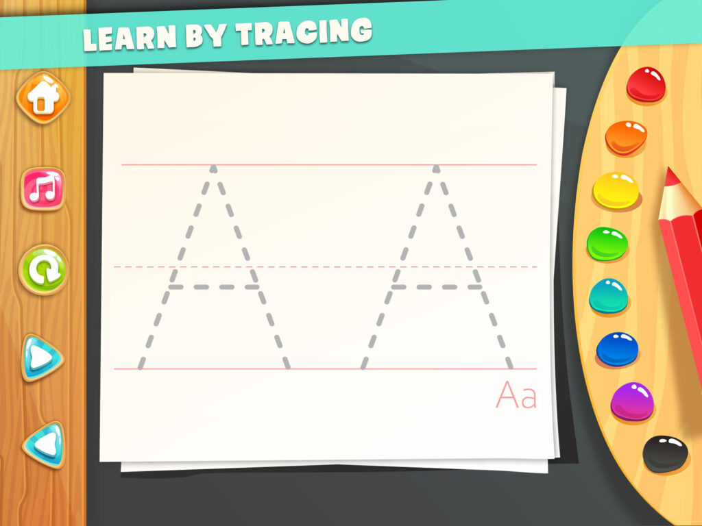 Abc Tracing For Kids Free Games For Android   Apk Download Inside Abc Tracing Mod Apk