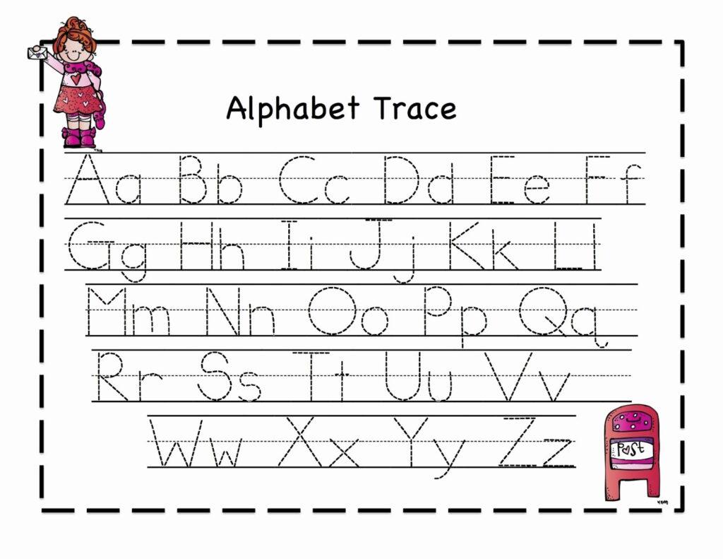 Abc Tracing Worksheet Kindergarten In 2020   Alphabet