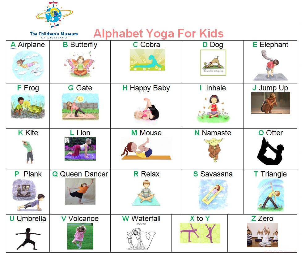 Abc Yoga. Usededucators At The Children's Museum To Help for Alphabet Yoga Exercises