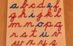 Cursive Alphabet Montessori
