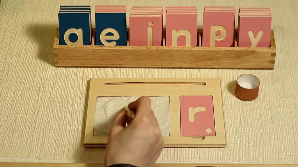 Alison's Montessori: (L167) Lowercase Print Tracing Board In Letter Tracing Montessori