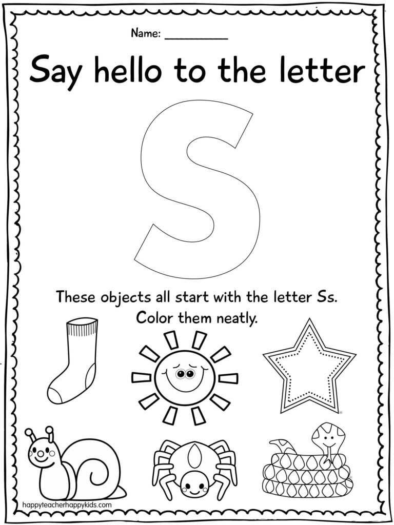 Alphabet Activities For The Letter S  Perfect For Preschool With Regard To Letter S Worksheets For First Grade
