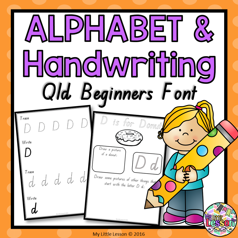 Alphabet And Handwriting Book - Qld Beginners Font intended for Name Tracing Qld Font