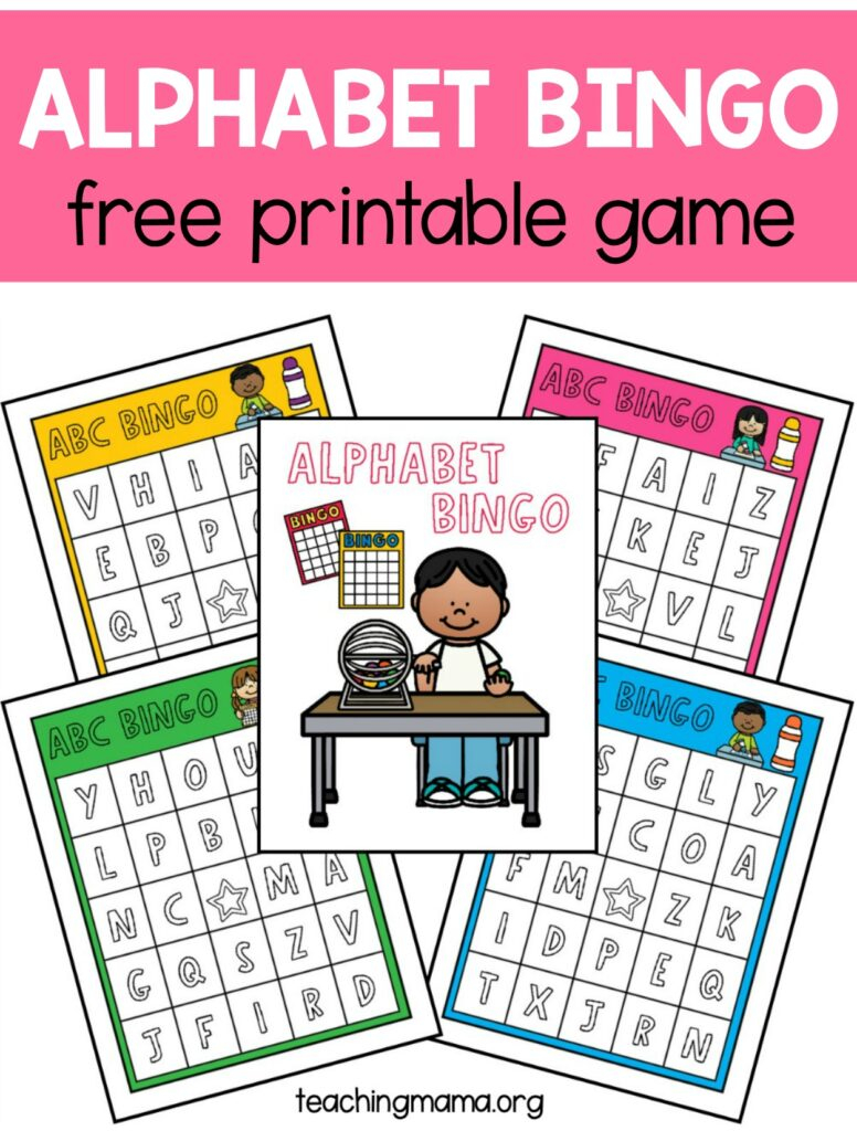 Alphabet Bingo Game   Teaching Mama Throughout Alphabet Bingo Worksheets