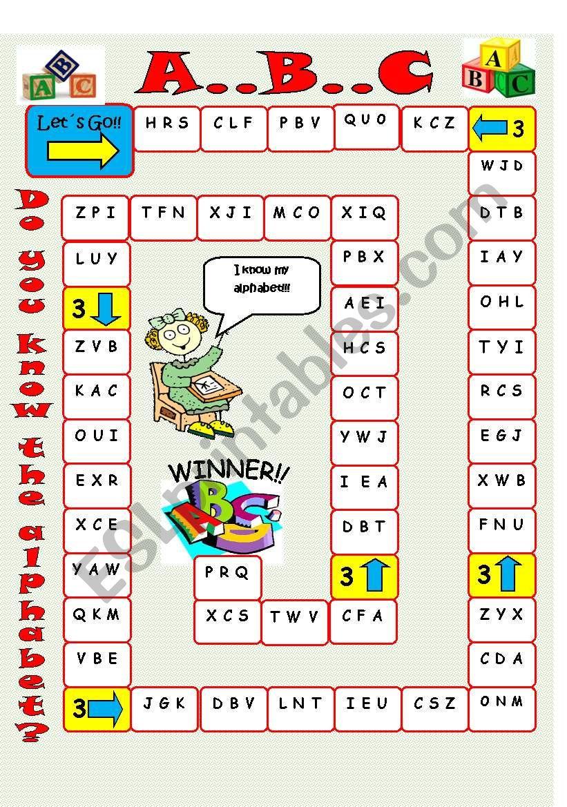 Alphabet Board Game - Esl Worksheetimelda pertaining to Alphabet Game Worksheets