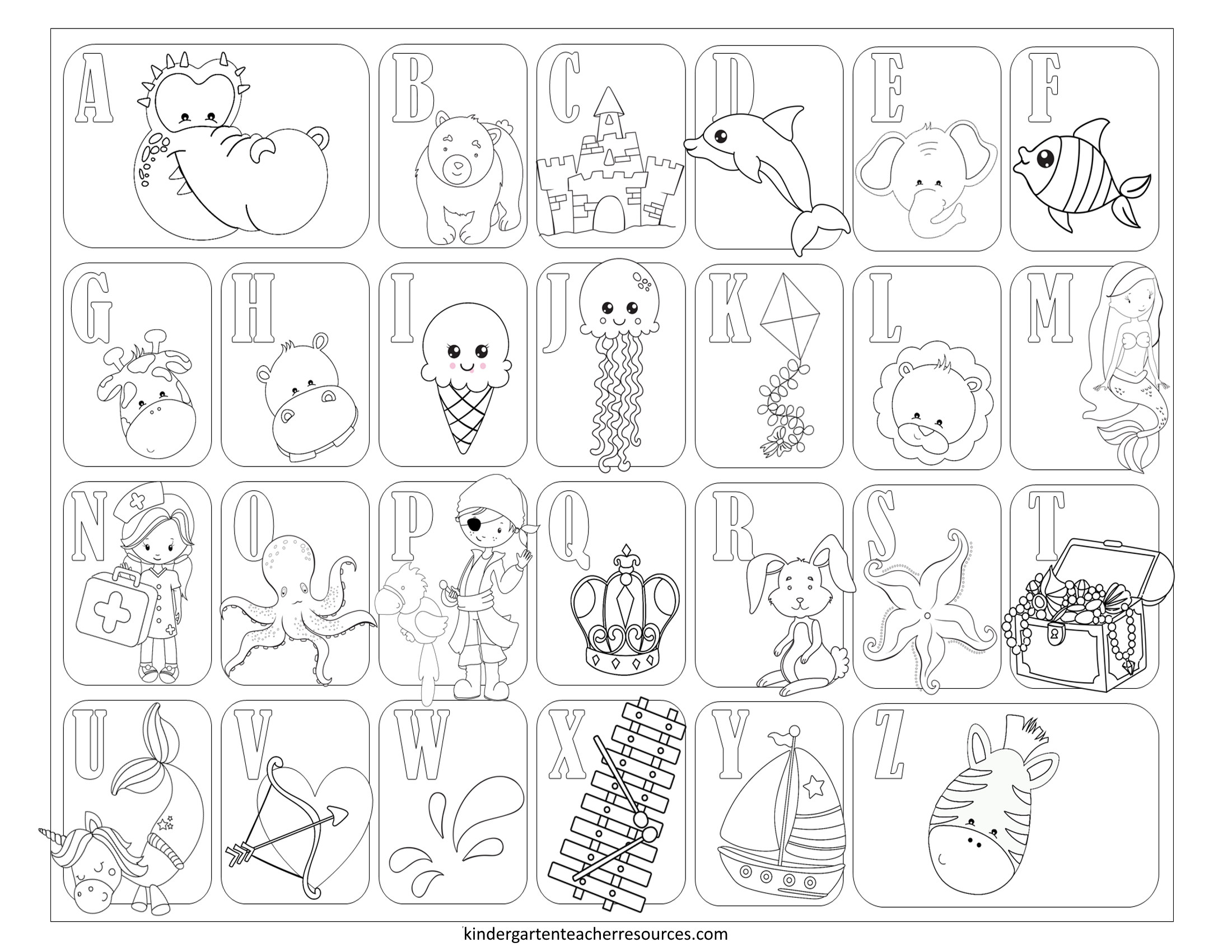 Alphabet Coloring Pages For Toddlers Printable Stunning in Alphabet Coloring Worksheets For Toddlers