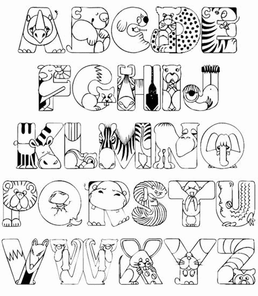 Alphabet Coloring Pages Free Preschool Activities Letters To for Alphabet Colouring Worksheets For Preschoolers