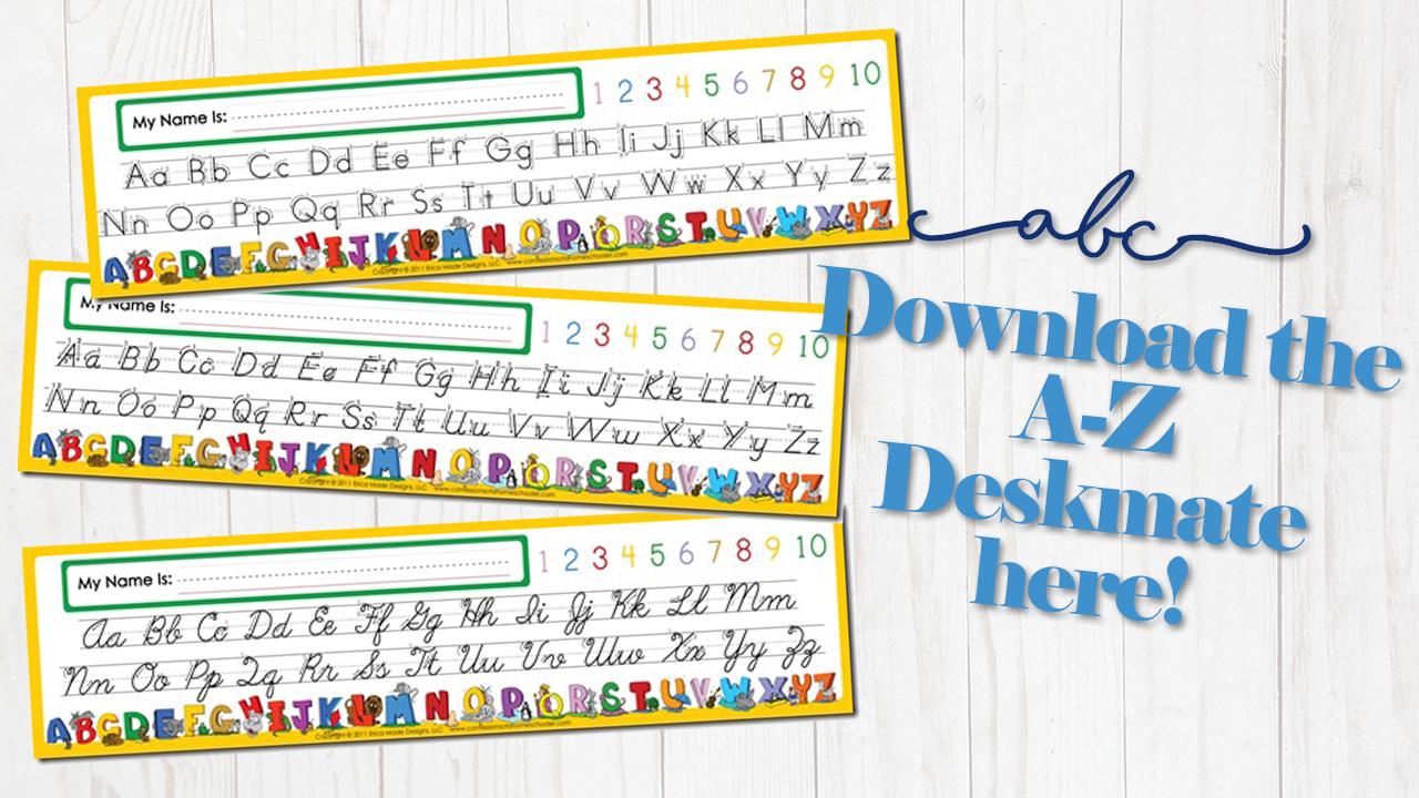Alphabet Desk Mate - Confessions Of A Homeschooler