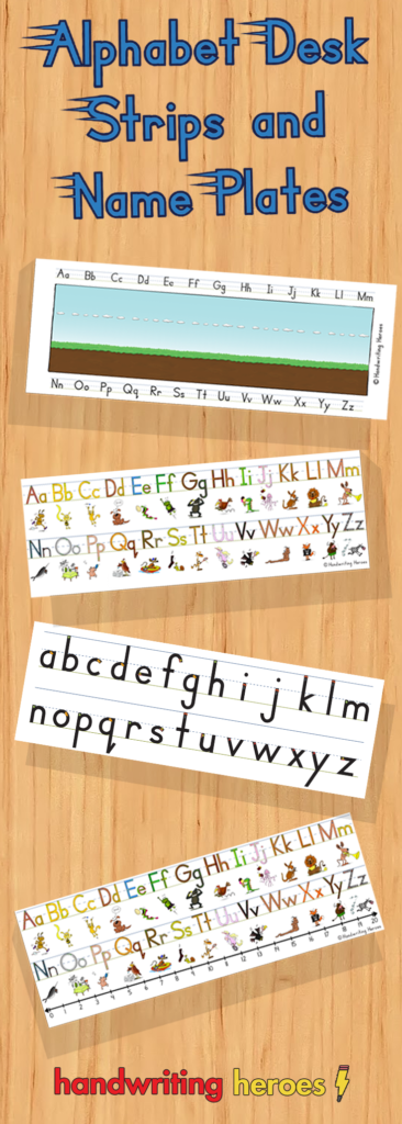 Alphabet Desk Strips And Name Plates | Learn Handwriting