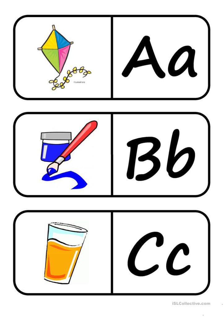 Alphabet Domino   English Esl Worksheets For Distance In Alphabet Domino Worksheets