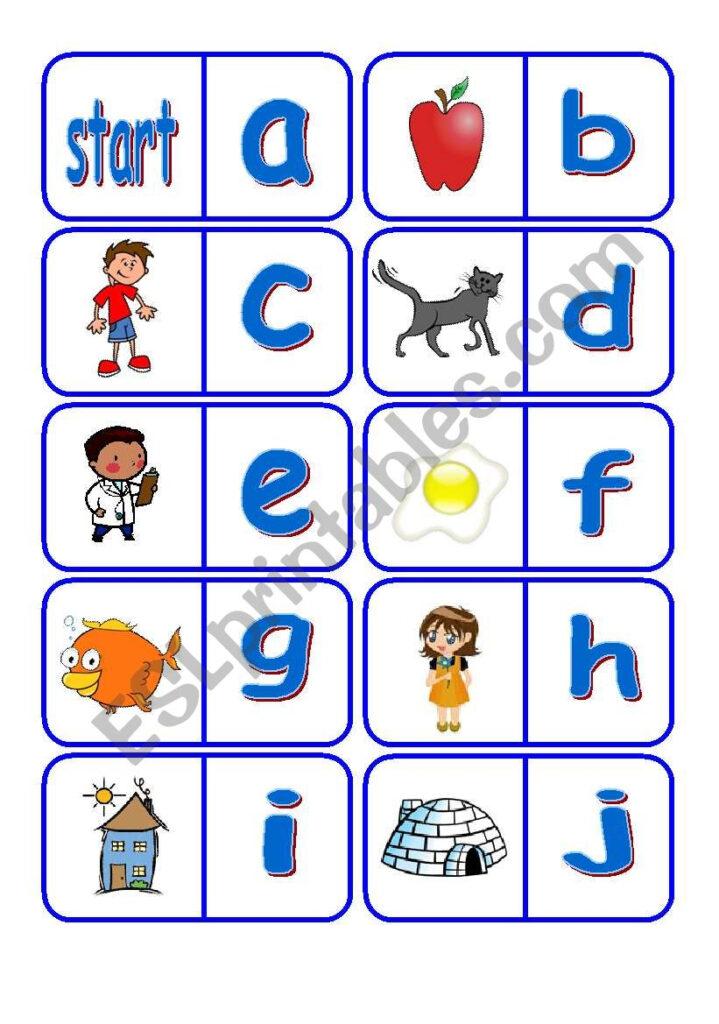 Alphabet Dominoes   Esl Worksheetfleur Within Alphabet Domino Worksheets